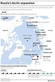 Military Bases In United States Map by Putin U0027s Russia In Biggest Arctic Military Push Since Soviet Fall