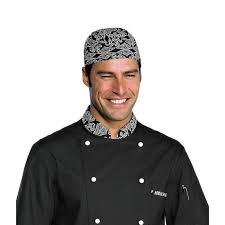 bandana cuisine toque bandana cuisine noir blanc achat vente calot toque
