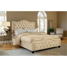 Low Profile King Bed Hillsdale Trieste Upholstered Low Profile Bed Buckwheat Hayneedle