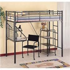 metal loft bed with desk and futon chair pictures reference