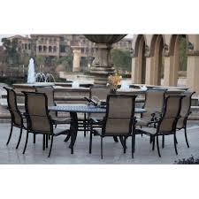 square outdoor dining table darlee monterey 9 piece sling patio dining set ultimate patio for