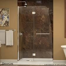 shop dreamline aqua 45 5 in to 45 875 in frameless hinged shower