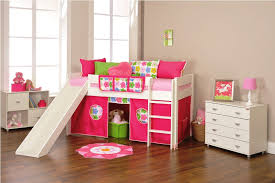 the furniture white kids bedroom set with loft bed in fun ideas girls twin loft bed with slide thedigitalhandshake furniture