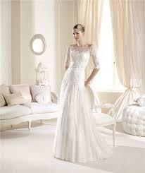 princess a line illusion neckline off the shoulder lace wedding