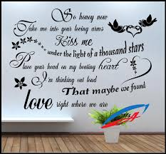 wall art stickers decors quotes and phrases lyric ed sheeran wall art stickers decors quotes and phrases lyric ed sheeran thinking out loud t44 wall art stickers