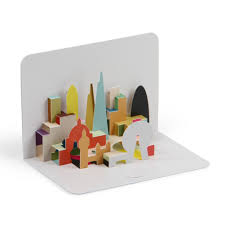 skyline 3d pop up card paperchase