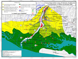 Map Of El Salvador The Flooding Of The Lower Lempa Region