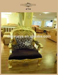 Gold Fabric Sofa Big Size For Heavy People Arabic Style Luxury Gold Gilded Fabric