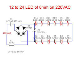 electronic components led lights led tube light ac circuit diagram electronics projects and