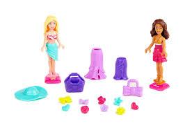 buy mega bloks barbie build u0027n style beach house multi color