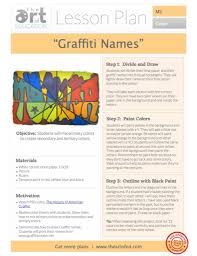 graffiti name color wheel free lesson plan download the art of ed