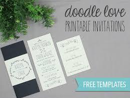 Expensive Wedding Invitations Doodle Love Printable Wedding Invitation Set