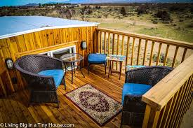 Tiny Furniture Trailer by Tiny House With Amazing Rooftop Balcony Living Big In A Tiny House