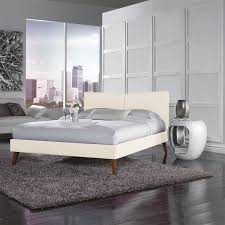 fashion bed group b71955 parkland queen platform bed in ivory with