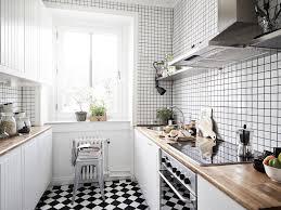 Small Black And White Kitchen Ideas Black And White Kitchen Tile Ideas Arminbachmann