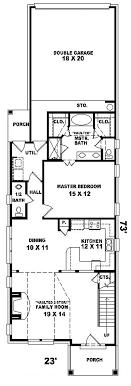 house plan for narrow lot house plans for narrow lots houseplans studio 1 floor lot