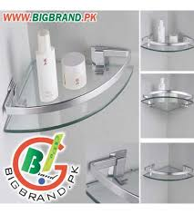 Glass Bathroom Corner Shelves Layer Glass Bathroom Corner Rack