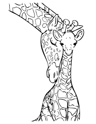 print u0026 download giraffes coloring pages