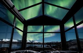where are the northern lights located this glass cabin in iceland lets you sleep under the northern lights