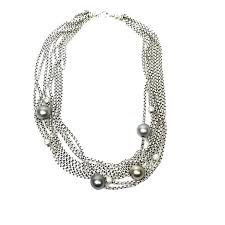 pearl necklace with diamonds images David yurman multi strand pave diamond and black pearl necklace png