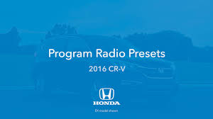 audio operation 2016 honda cr v honda owners site