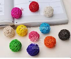 decorative things for home 60pcs handmade bamboo wicker rattan balls basket christmas tree home