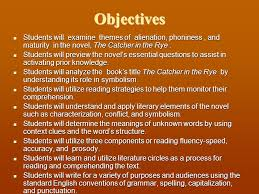catcher in the rye theme of alienation objectives students will examine themes of alienation phoniness