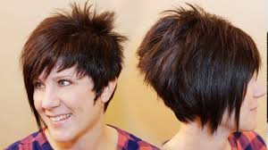 haircuts for shorter in back longer in front women s haircut short back long front youtube