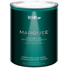 behr marquee 1 qt ultra pure white semi gloss enamel interior