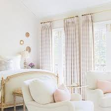 Red And White Buffalo Check Curtains White Bedroom With Pink Valance And Curtains Traditional Bedroom