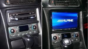 c6 corvette stereo upgrade alpine ine z928hd din installed in c5 z06