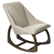 Wood Rocking Chairs For Nursery Nursery Rocking Chair Upholstered Cushion Brown Wood Rocker