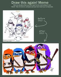 draw this again ninja penguins of madagascar by jwolf 97 on