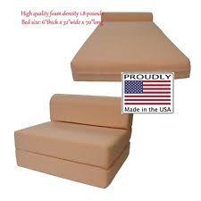 Folding Cushion Chair Bed Folding Foam Bed Ebay