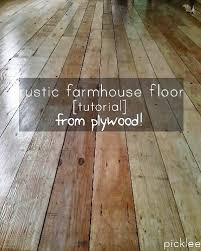 farmhouse wide plank floor made from plywood cabins tinies