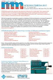 Program Paper Acmmm2017 U2013 Celebrate The 25th Acm Mm