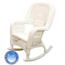 white resin rocking chair white resin wicker rocker white wicker
