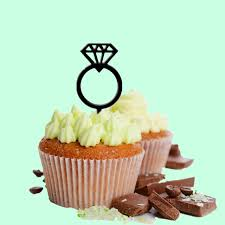 custom wedding cupcake topper diamond ring arcylic wedding cake