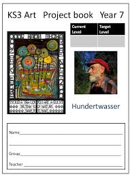 ks3 art project book hundertwasser year 7