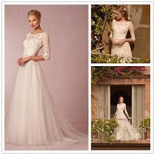 flowing wedding dresses robe de mariage 2016 vintage bohemian charm sleeve