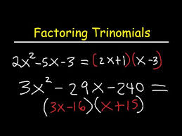 factoring trinomials ax2 bx c by grouping youtube