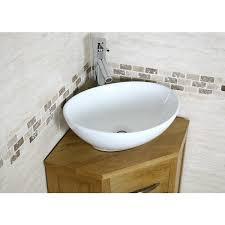 Small Corner Vanity Units For Bathroom Mobel Oak Compact Corner Bathroom Vanity Unit Best Price Guarantee