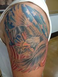 Rebel Flag Eagle Tattoo Nick Jackson Certified Artist
