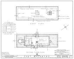 1934 survey of fort matanzas second floor plan no 15 5 us