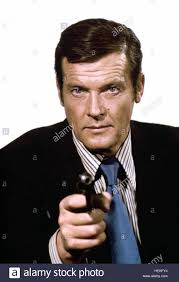 Roger Moore by Roger Moore James Bond The Spy Who Loved Me 1977 Stock Photo