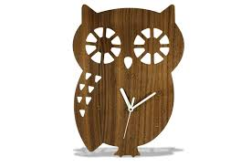 wooden animal wall modern wooden owl wall clock echos