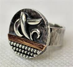 french art deco silver and gold ring by jean després on artnet