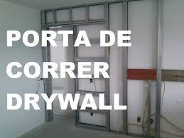 Excepcional Como Instalar KIT Porta de Correr Parede Drywall ? São Paulo SP  @SL74