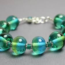 sterling bead bracelet images Blue green lampwork bead bracelet in sterling silver kathy bankston jpg