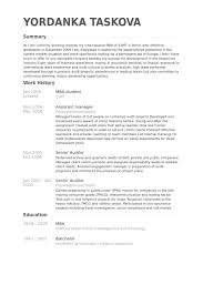 Mba Resume Templates Mba Student Resume Samples Visualcv Resume Samples Database